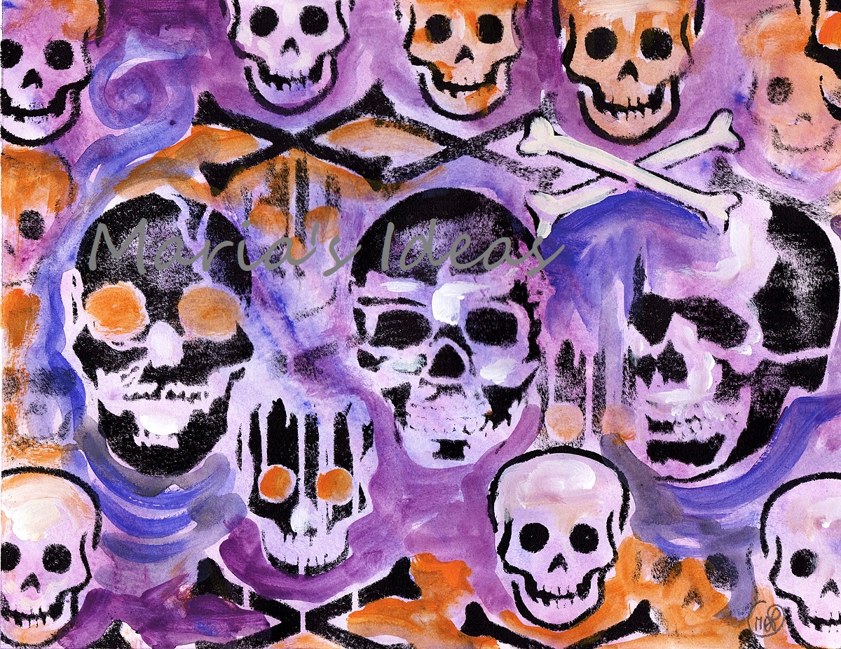 skullie, skulls, skull art, halloween art