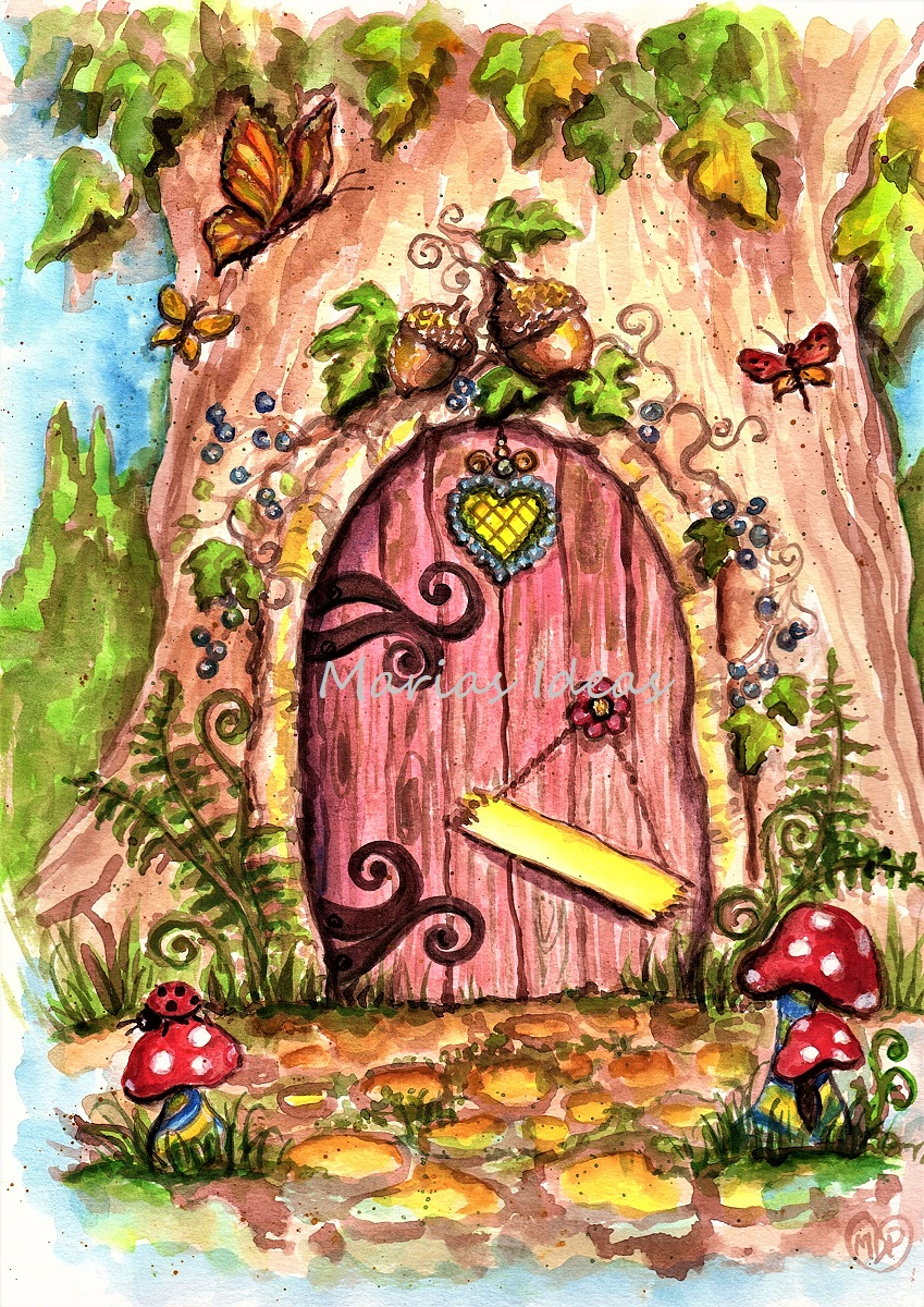 fairy door, fairy art, personalized art