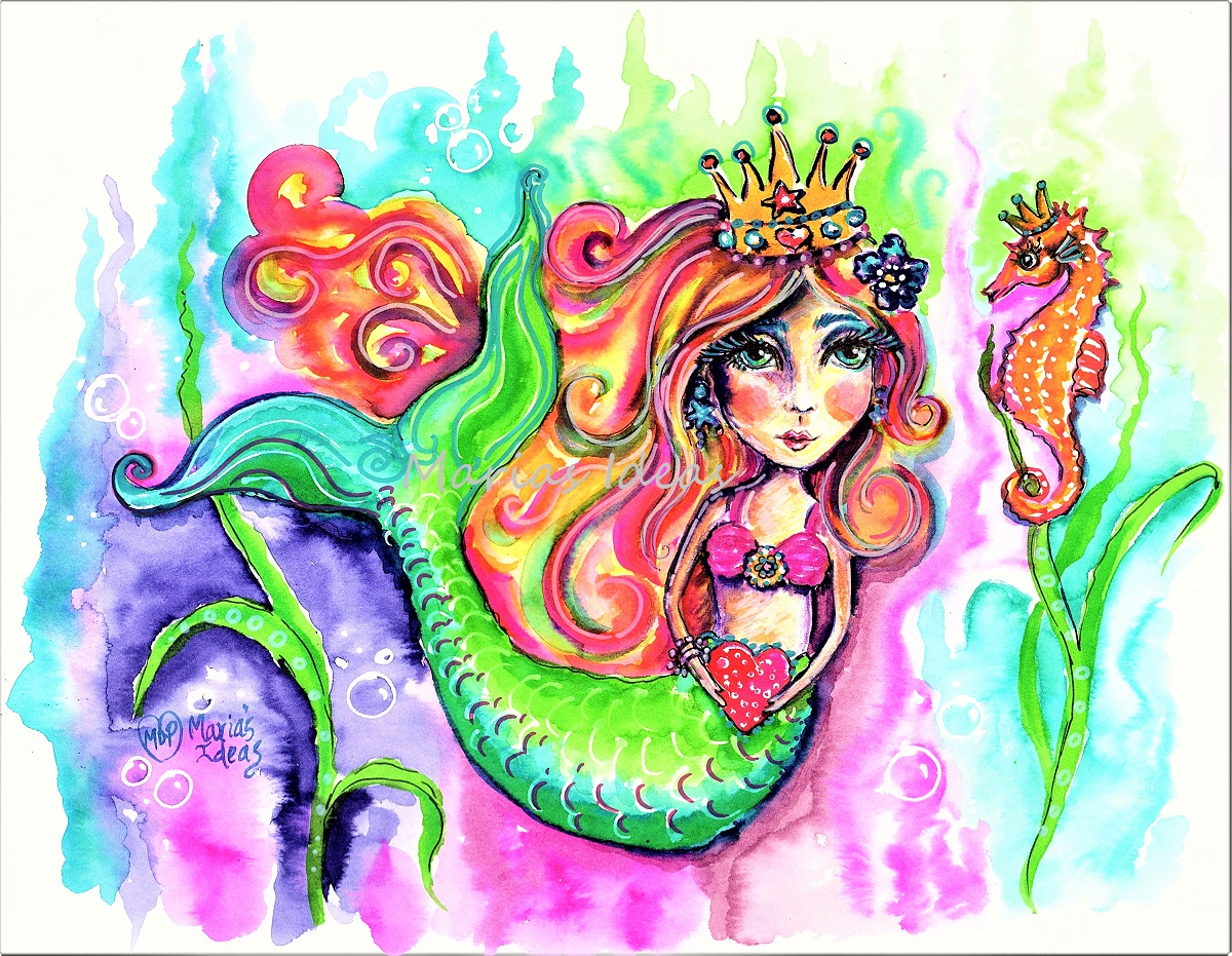 mermaid art,under the sea, mermaid