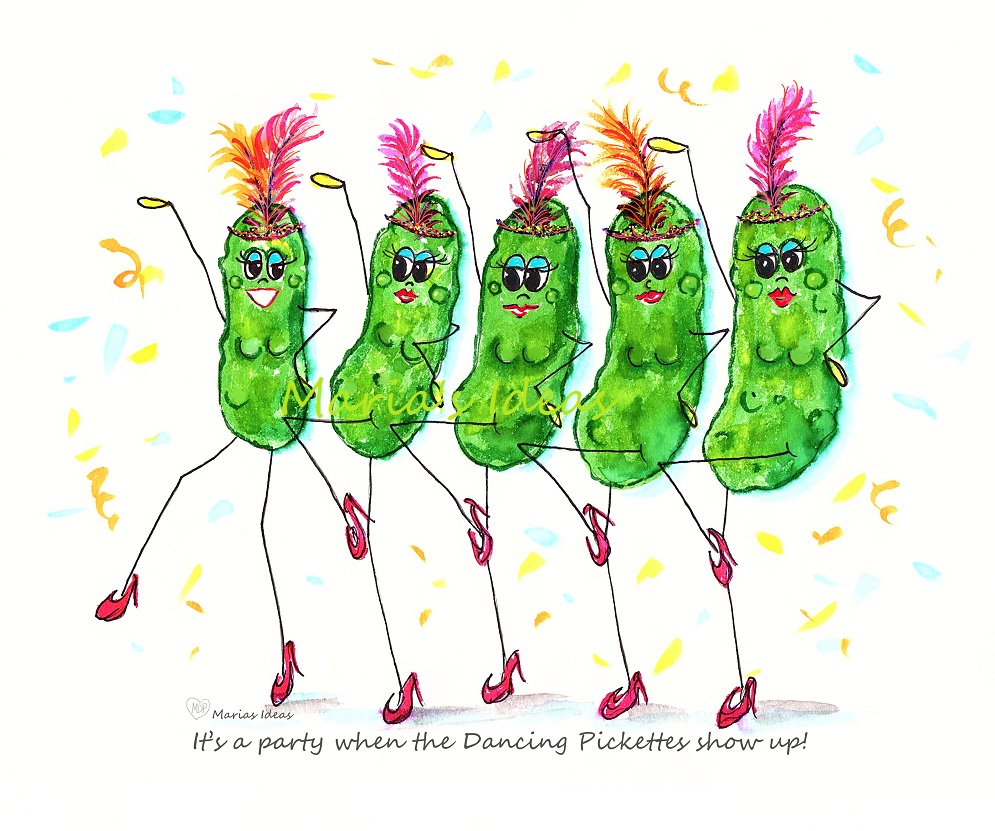 pickle art, pickles, dancing pickle, funny pickle, funny pickle art