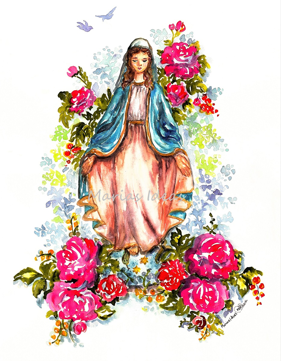 Blessed Mother, holy art, religious art, Mother Mary