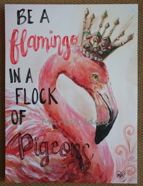 Mixed Media Flamingo