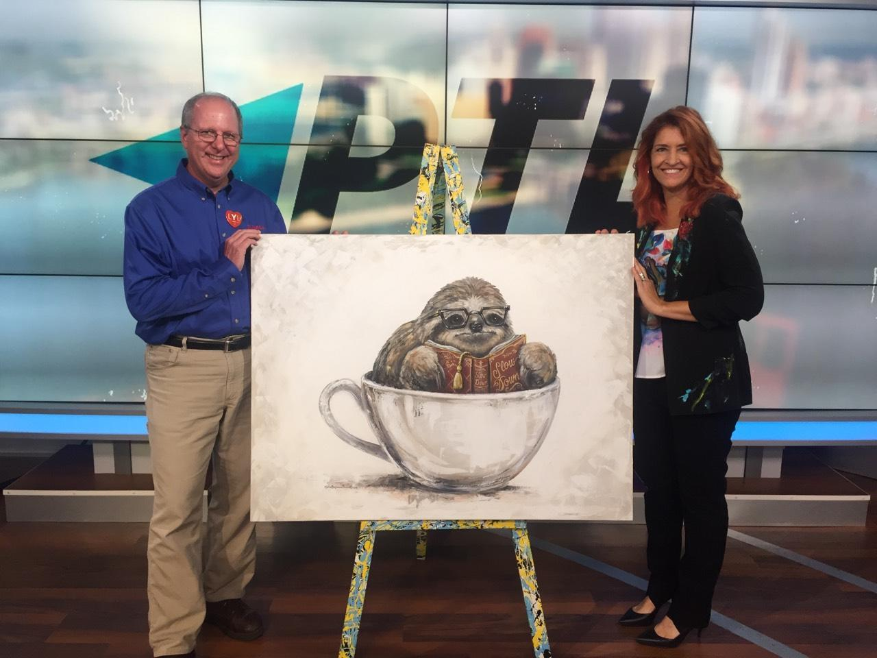 Featured guest with art  Pittsburgh Today Live KDKA TV  2018