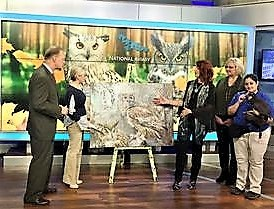 Featured guest with art & National Aviary Pittsburgh today Live 2017