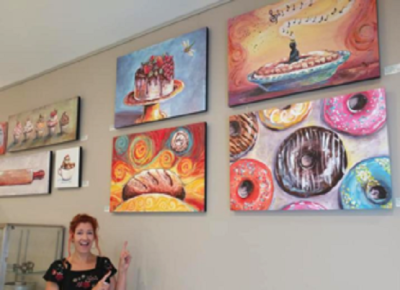 Curated 6 month sole exhibit of my art for Bakery Society Pittsburgh 2018-2019